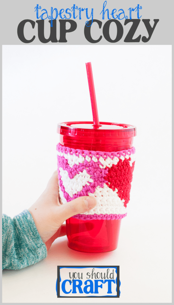 Protect your fingers and use our free pattern to crochet a reusable cotton cup cozy with an adorable heart pattern -- perfect for Valentine's Day or any day. Just say no to those cardboard sleeves at the coffee shop and crochet your own heart cozy. Click to make now or pin for later!