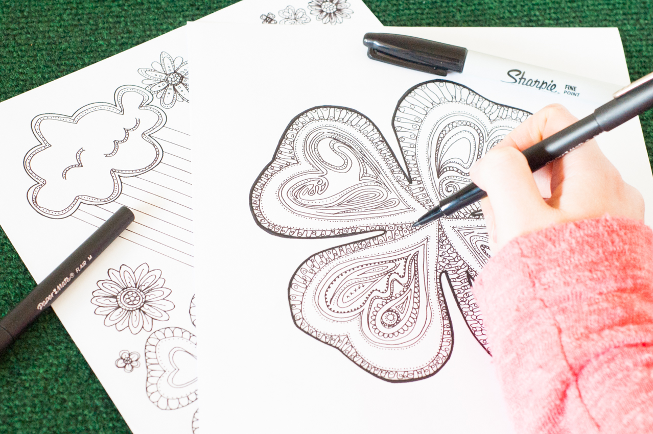 Adult Coloring Pages For St Patrick S Day