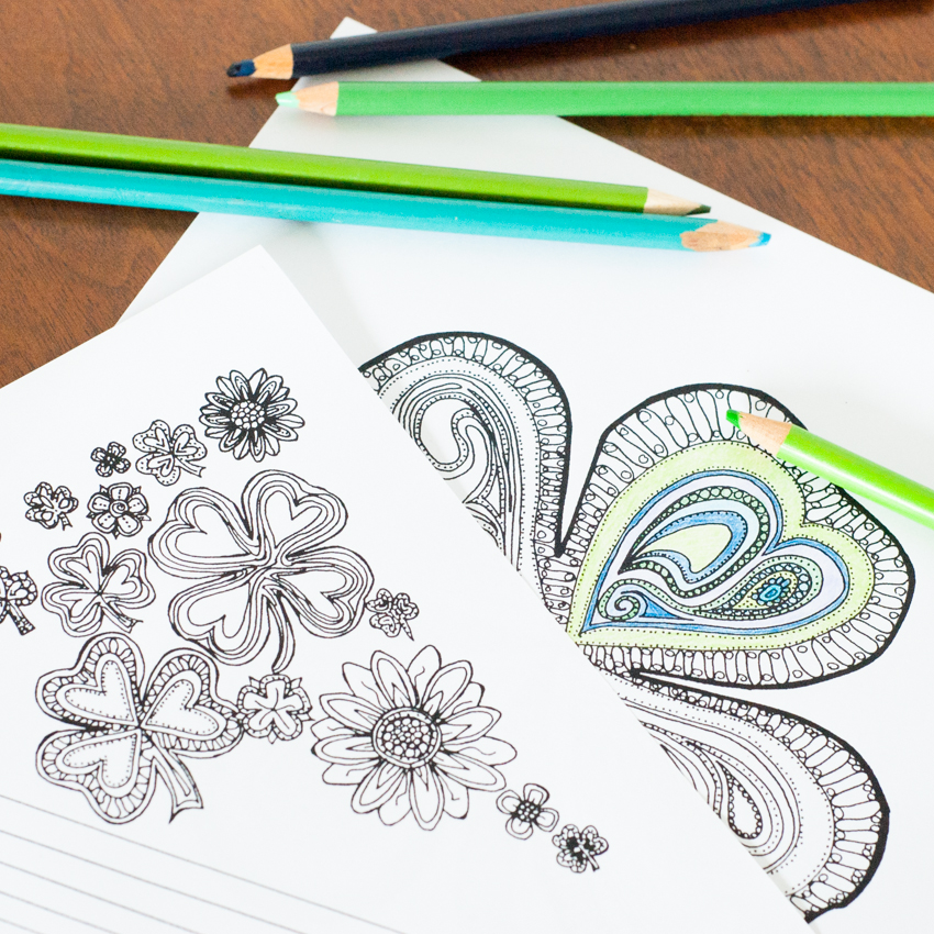 Love To Color While Listening Podcasts Or Audiobooks Download Two FREE Adult Coloring Pages