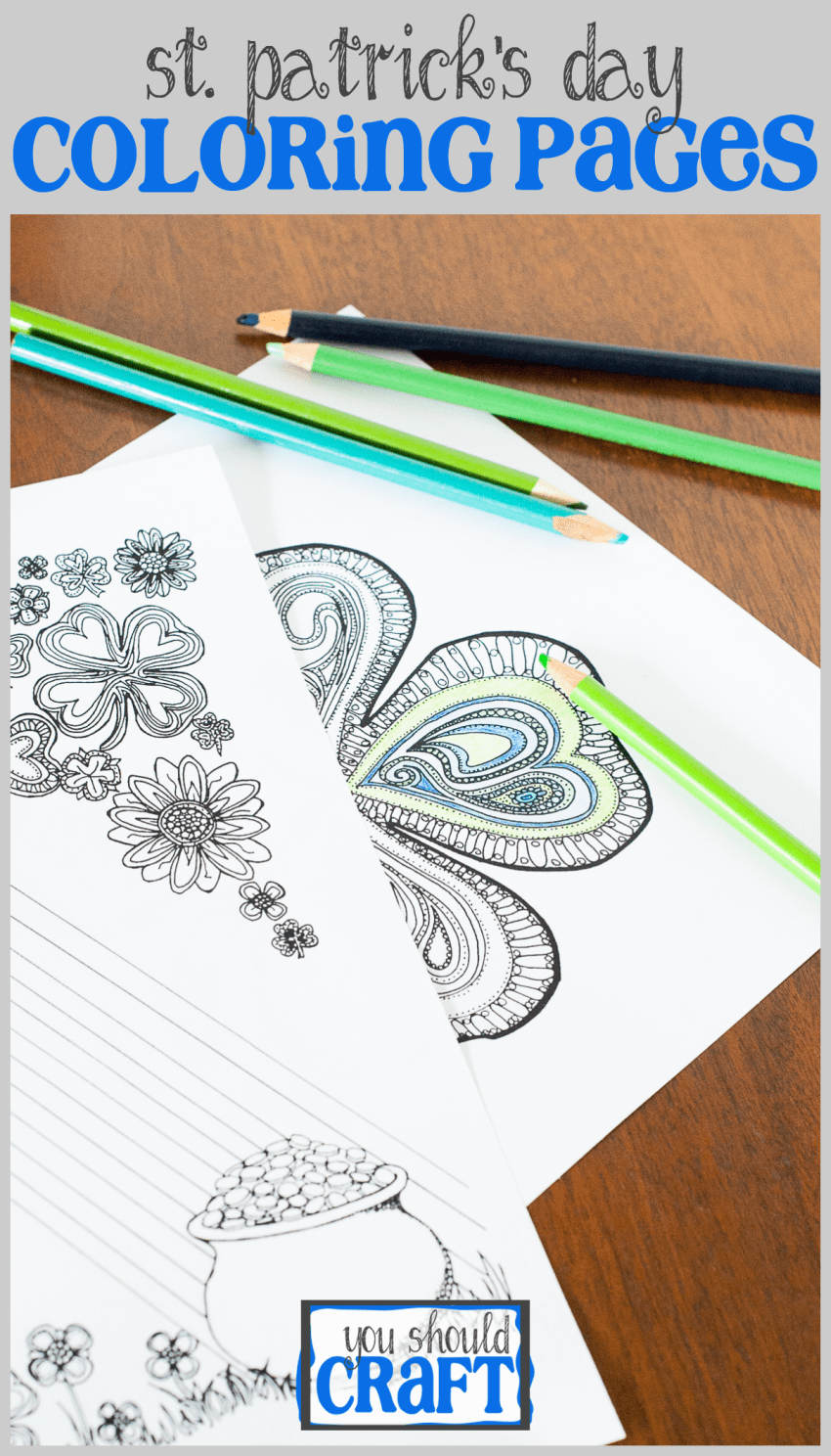 Adult Coloring Pages For St Patrick S Day You Should Craft