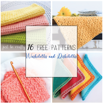 16 Free Crochet Washcloths and Dishcloths