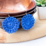 Sunburst Earrings – Free Crochet Pattern