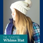 blonde woman wearing flannel and a white twisted whims hat