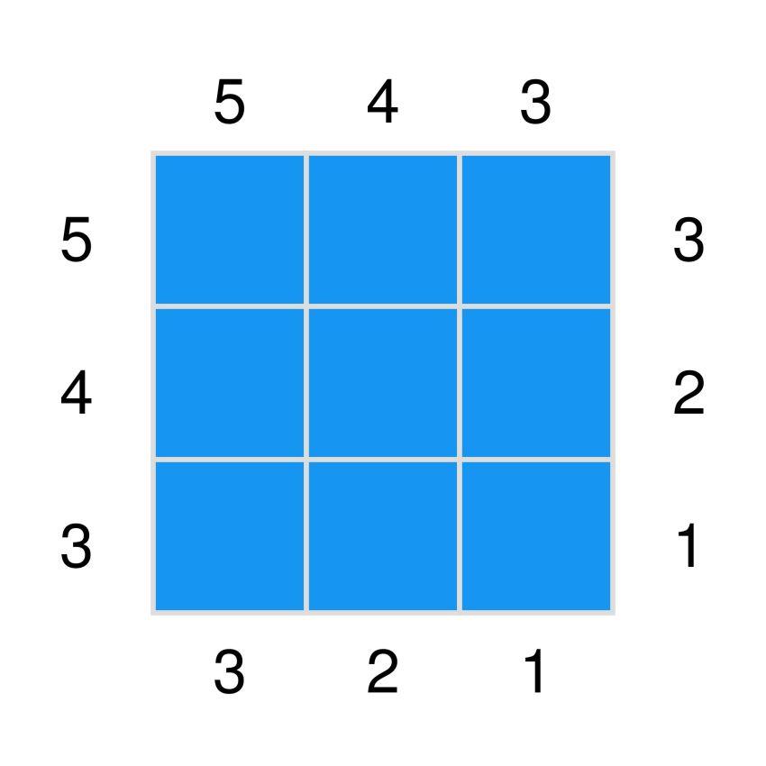 crochet graph for a small corner-to-corner square