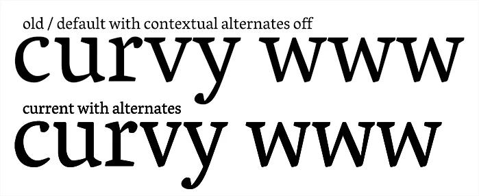 Vesper's Contextual Alternates