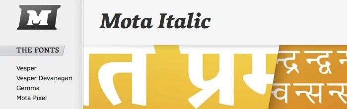 Mota Italic: Now Open!