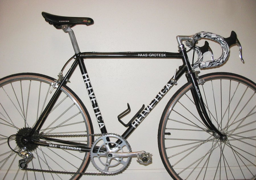 This was my Helvetica bike (c. 2002)