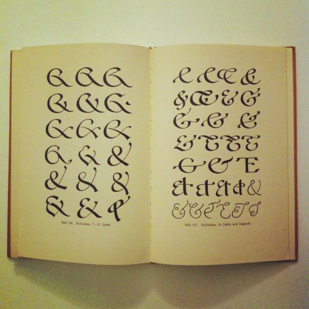 A spread of ampersands