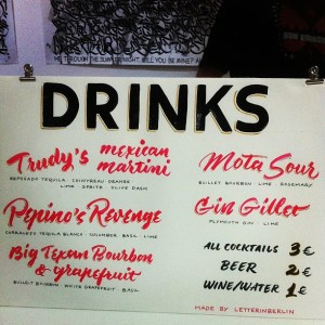 Drinks lettered by @anatoletype