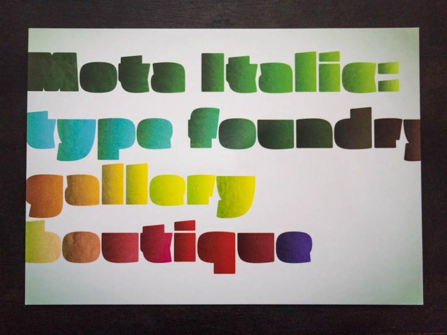 Mota Italic Postcard №1