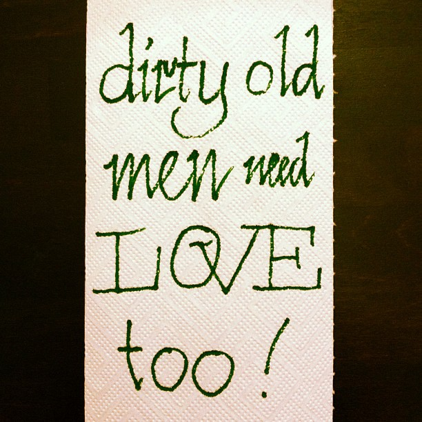 Dirty old men need love too. @typeoff is...
