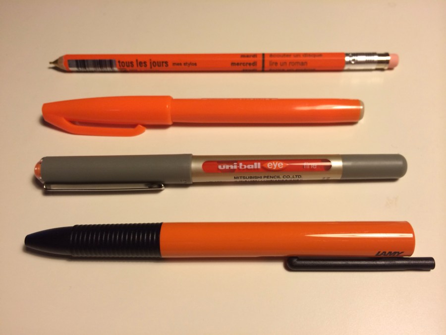 Once I decided to buy one orange pen I couldn't be stopped.