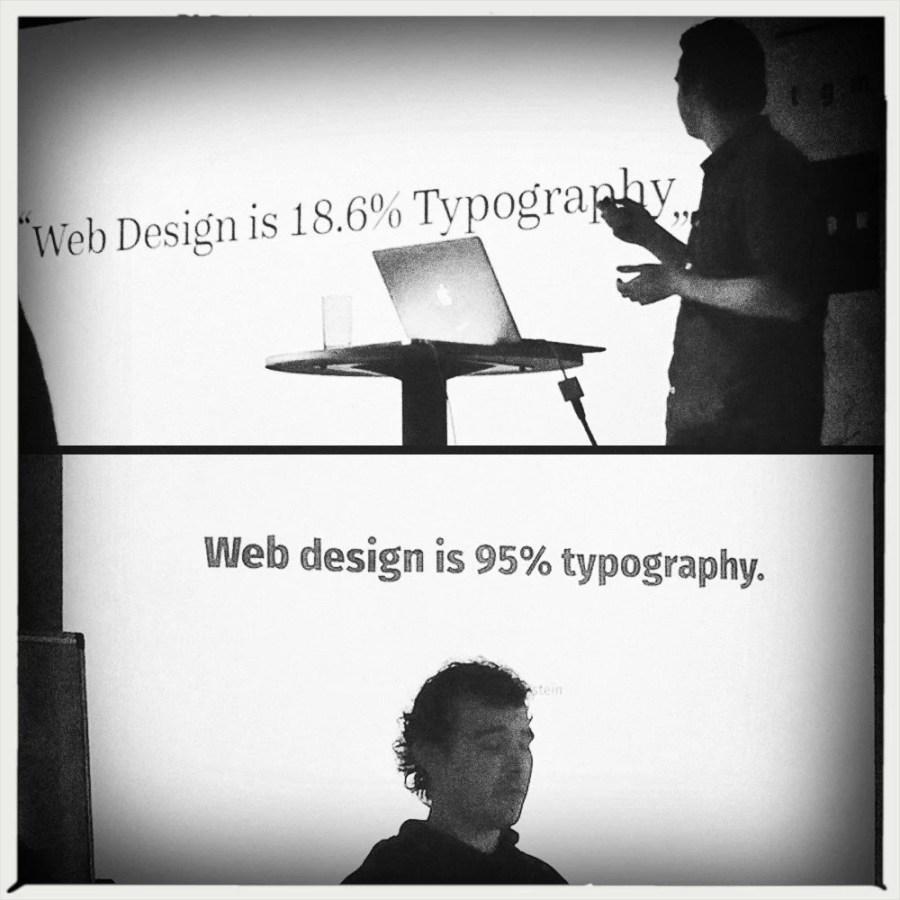 Web design is ?% typography.