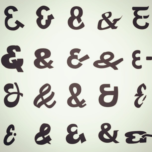 I've been collecting funny Indian ampersands for some...