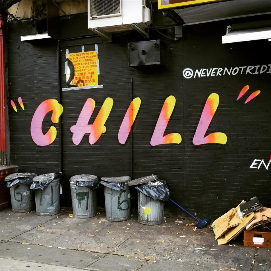 This one goes out to Mr. Chill @ohnotypeco