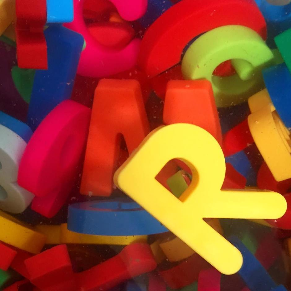 Colorful letters! I always enjoy a nice R.