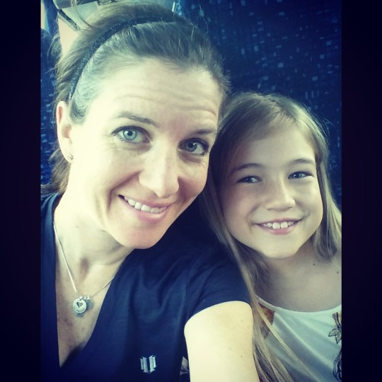 Cynthia and daughter on bus to NYC