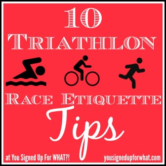 Triathlon Race Etiquette Tips