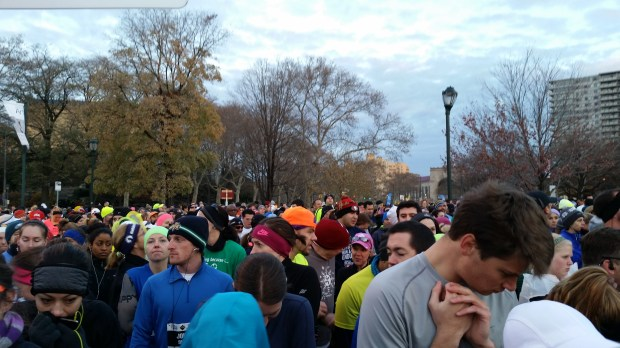 Philly marathon crowd