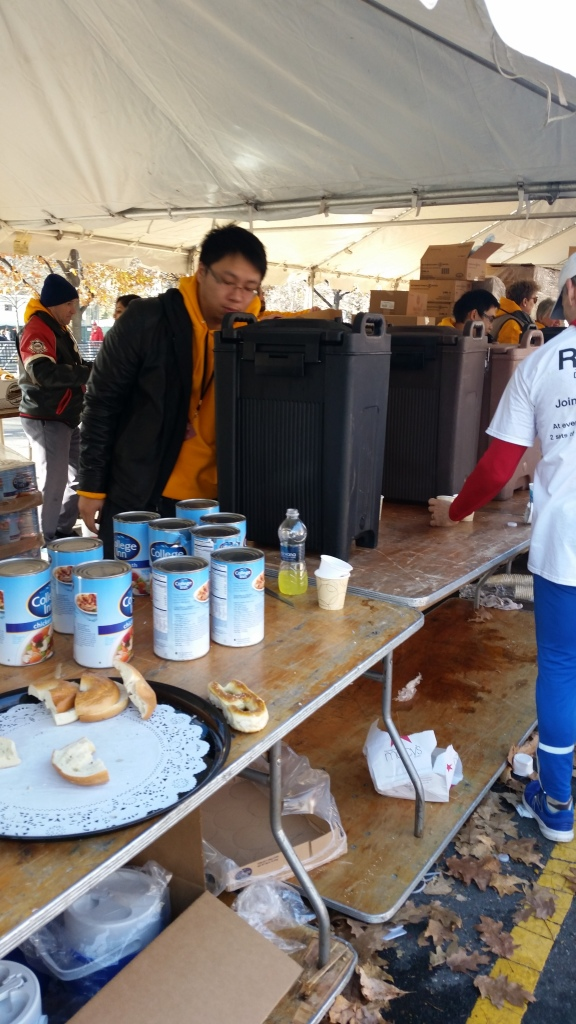 Philadelphia marathon finish hot broth