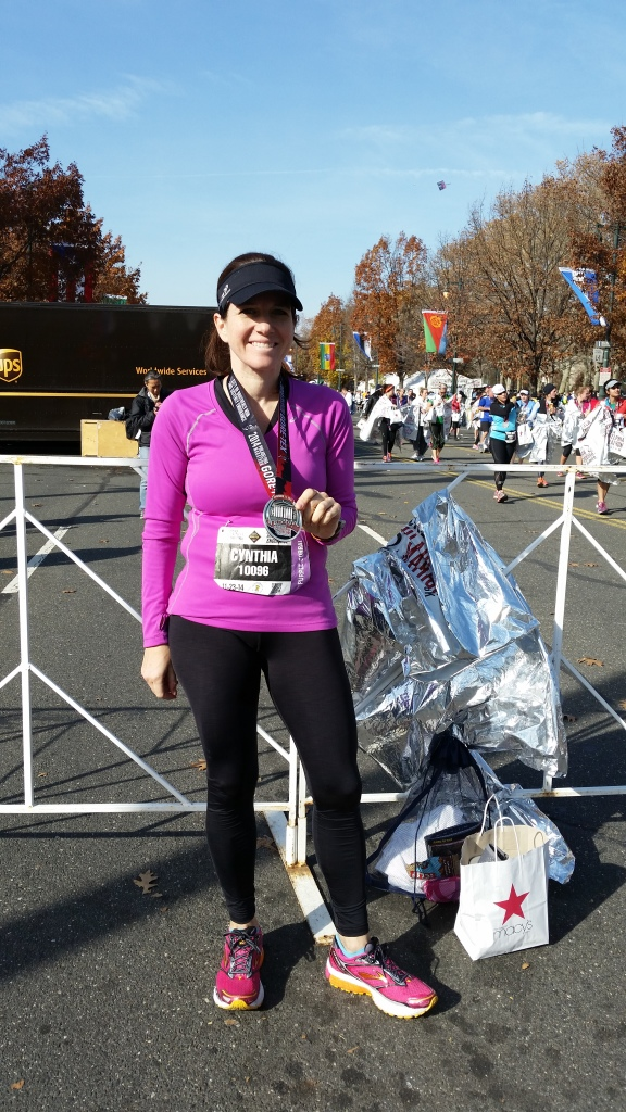 Philadelphia Marathon finish photo