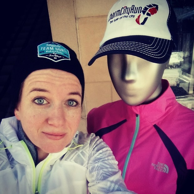 Cynthia with Charm City Run mannequin