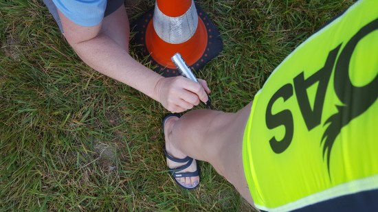 Rev3 Montclair Triathlon body marking