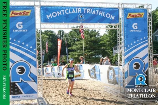 Rev3 Montclair Triathlon finish photo