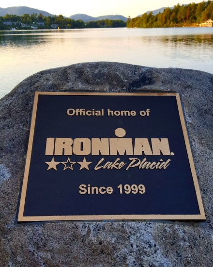 Ironman Lake Placid sign