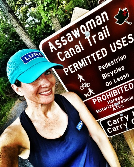 Running on the Assawoman Canal Trail