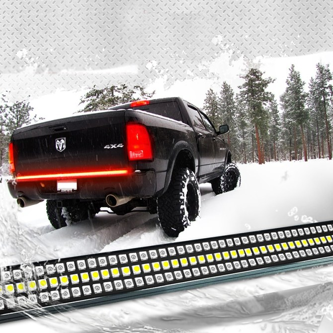"60"" redline triple led tailgate light bar with sequential amber turn signal  for truck"
