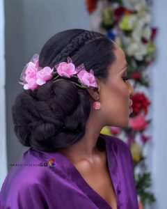 Bridal shoot with beautiful hairstyle