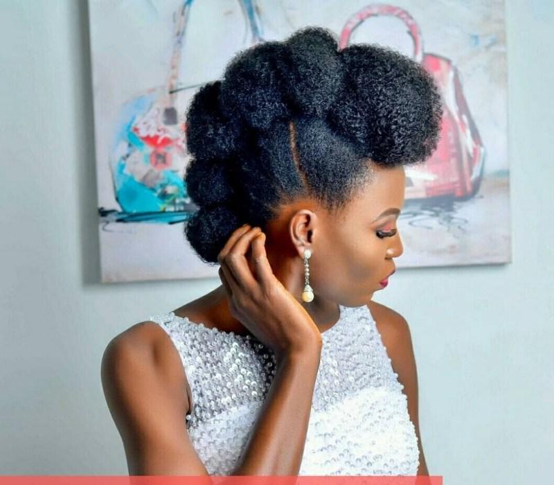 Bride natural hair