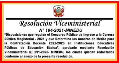 ✅[MINEDU] Conoce cómo será la Evaluación Docente en la Etapa Descentralizada 2021para el año lectivo 2022-2023