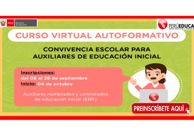 ✅[MINEDU] curso virtual para los auxiliares del nivel inicial de Educación Básica Regular