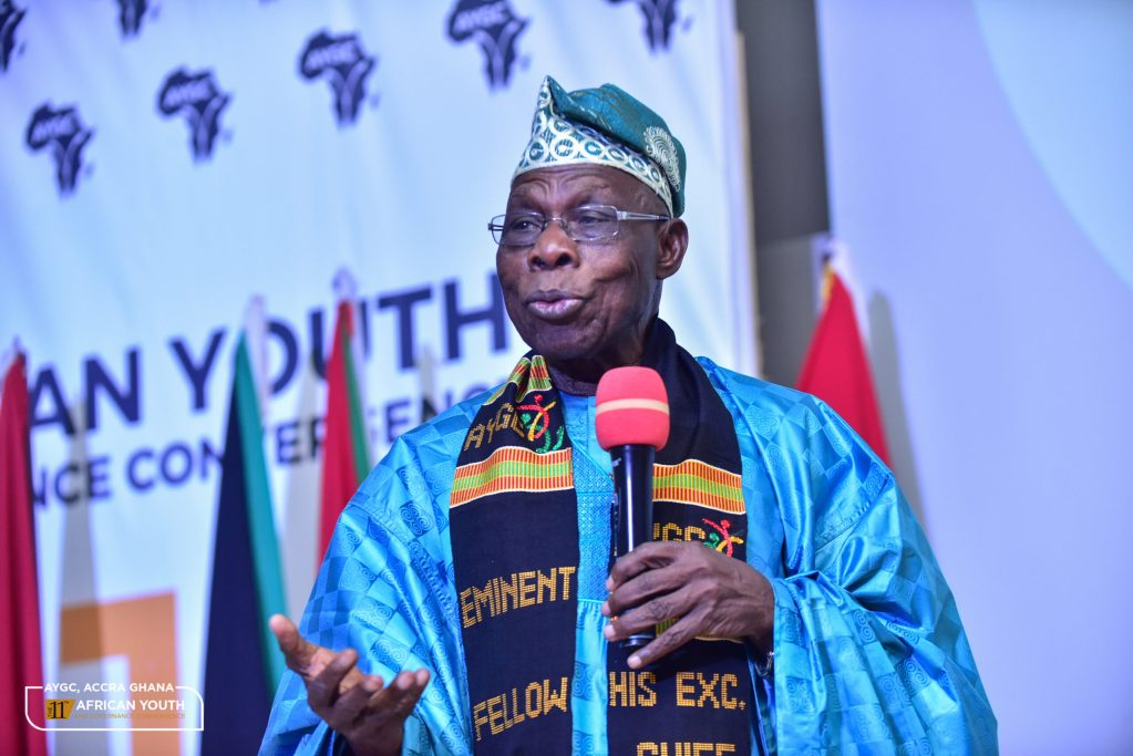 H.E. Olusegun Obasanjo speaking at the African Youth and Governance Convergence