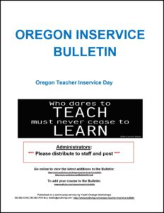 Oregon professional development courses for teacher