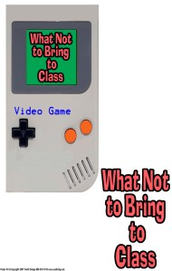 no video games in class poster