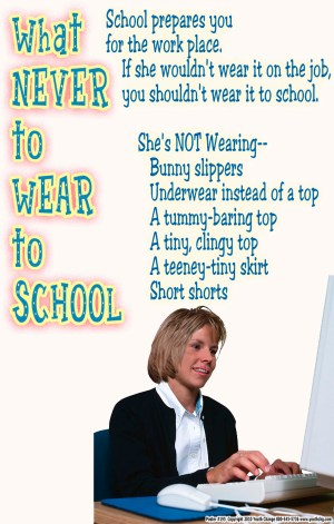 classroom poster for dress code rules
