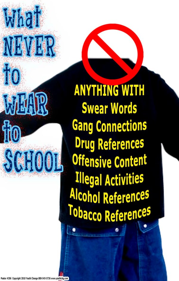 High School Poster for dress code rules