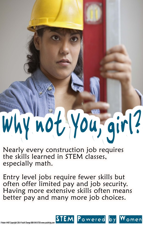 girls Educational career ed poster