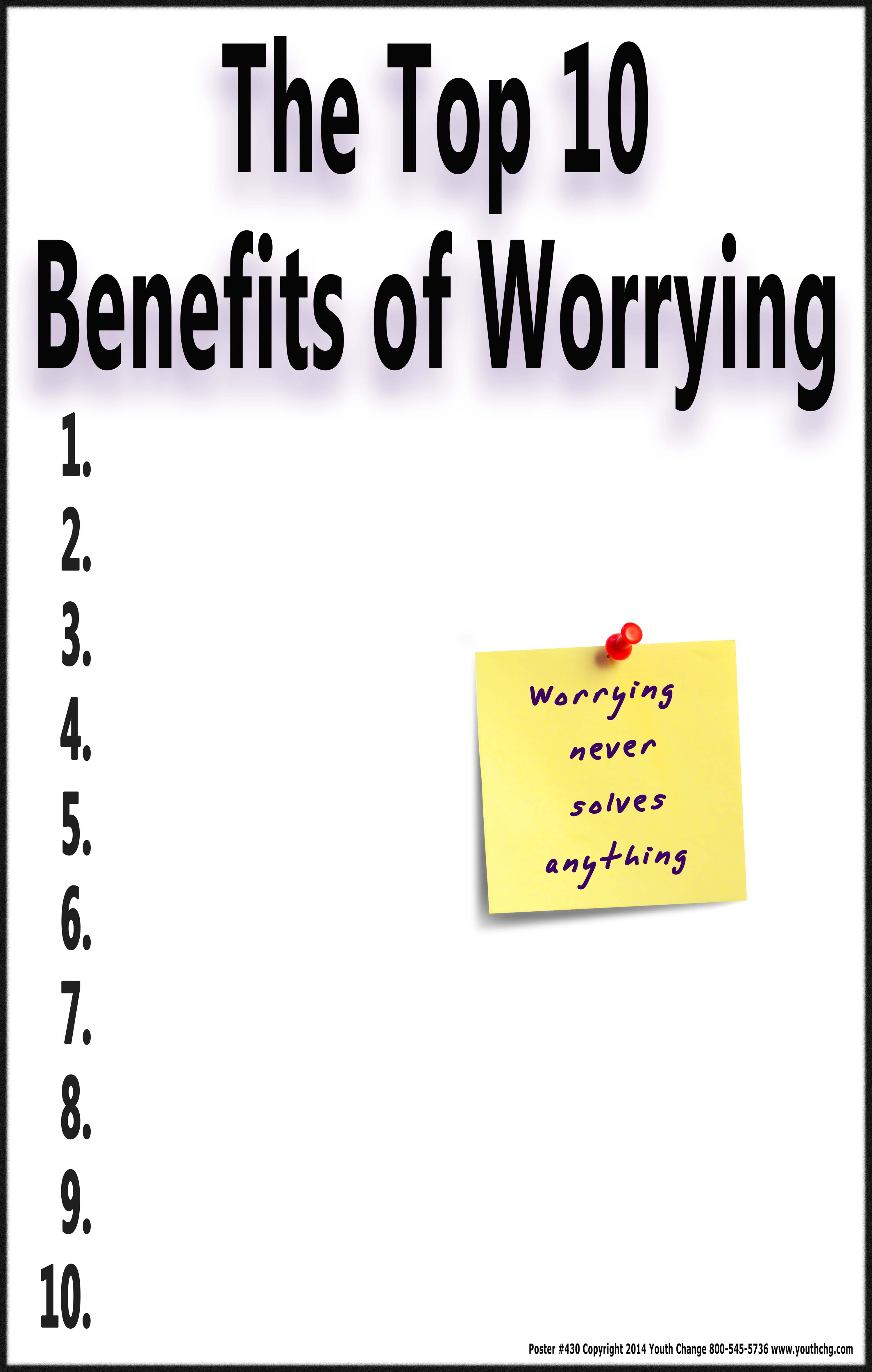 Inspirational Motivational Message Poster Reduces Worry