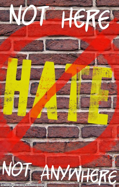 stop hate poster