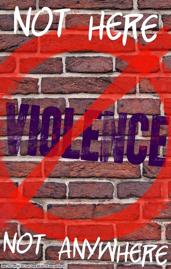 high school violence prevention posters