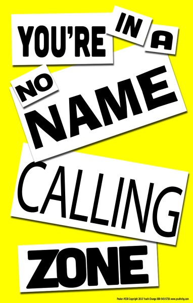 name calling poster