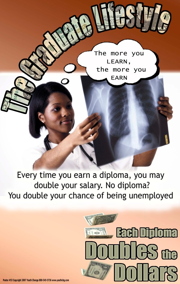 Stay in school career poster
