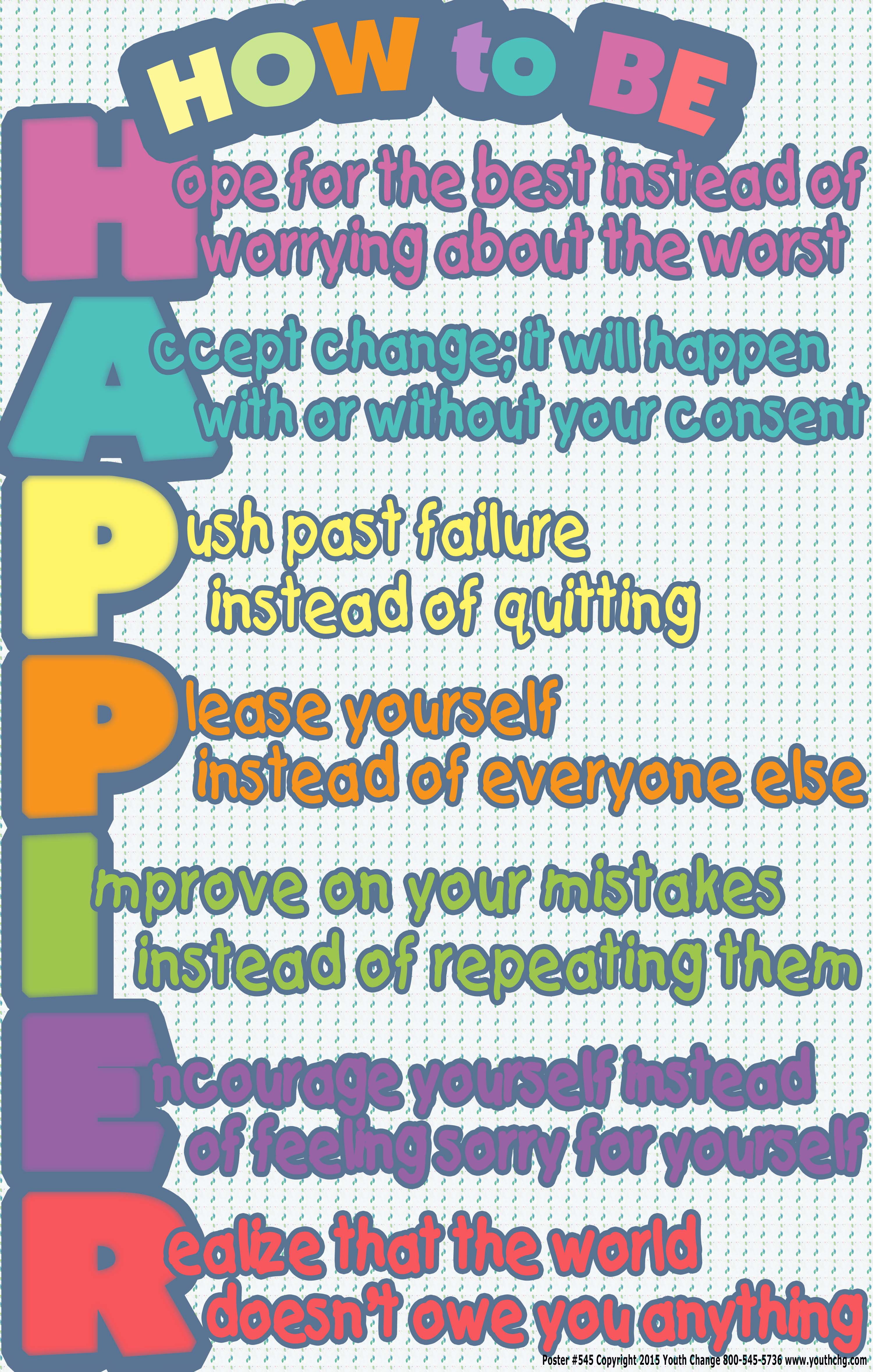 Happiness Classroom And Counseling Poster