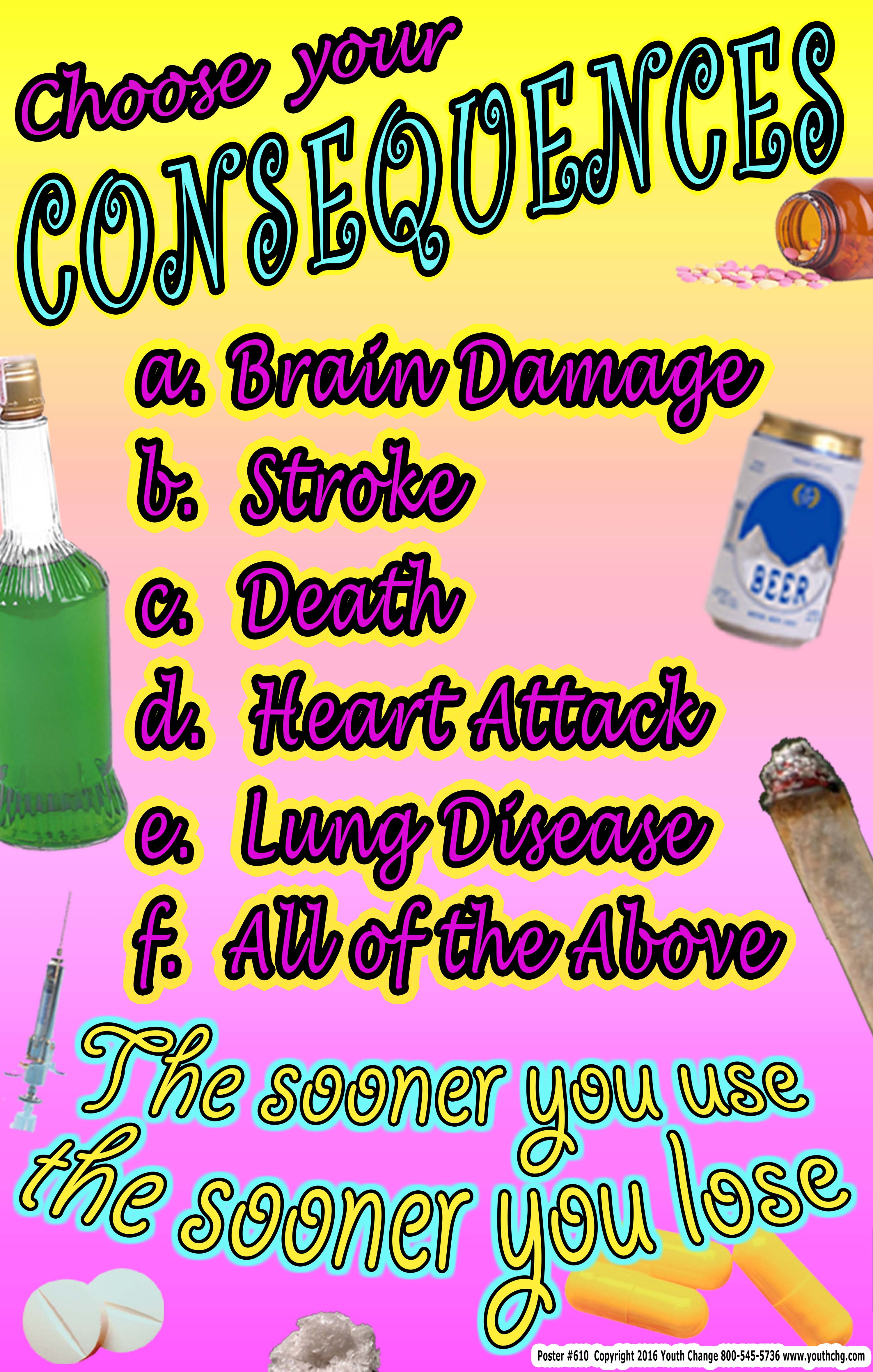 School Substance Abuse Prevention Posters For K 12