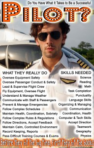 high school pilot career ed poster