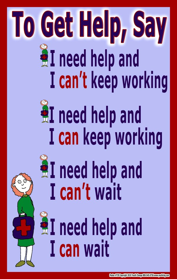 student how to ask for help poster